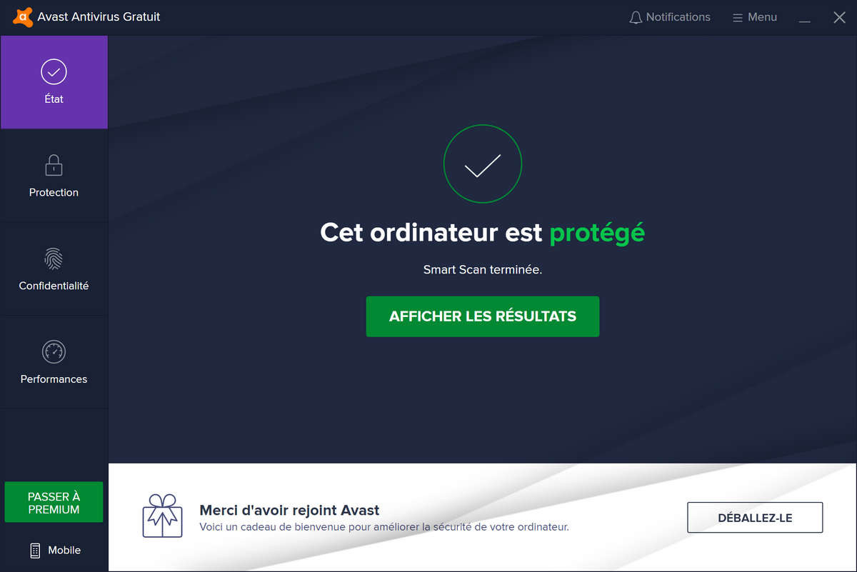 Avast Free Antivirus © Stéphane Ruscher / Clubic.com