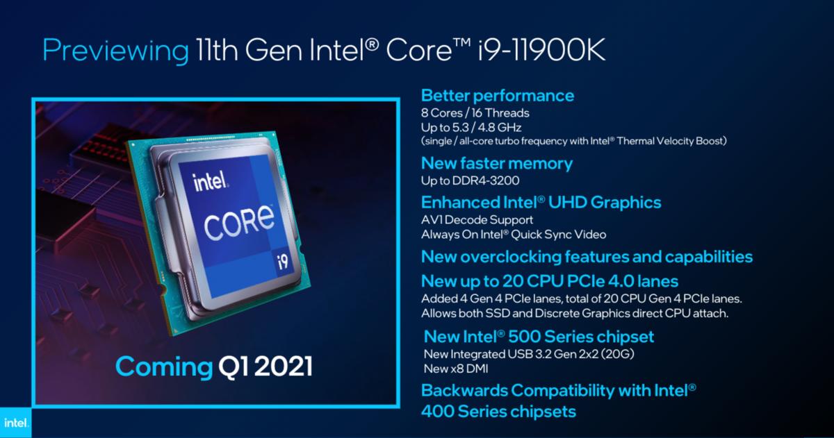 Intel i9-11900K © Intel