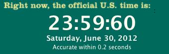 Ajout d'une seconde intercalaire en 2012 © Time.gov - US government / NIST division
