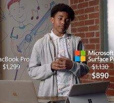 C'est officiel, la Surface Pro 7 de Microsoft est meilleure que le MacBook Pro d'Apple (selon Microsoft)