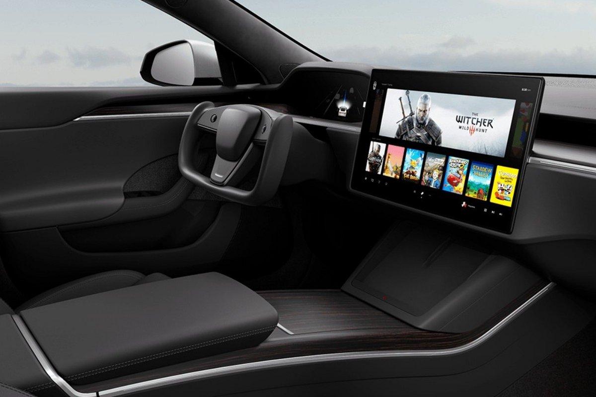 Tesla Model S The Witcher III © Tesla