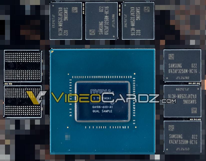 Sample NVIDIA GA106-400 © VideoCardz