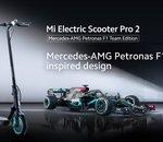 Nouvelle Mi Electric Scooter Pro 2 Mercedes-AMG Petronas F1 Team Edition, 25 km/h pour 45 km d'autonomie