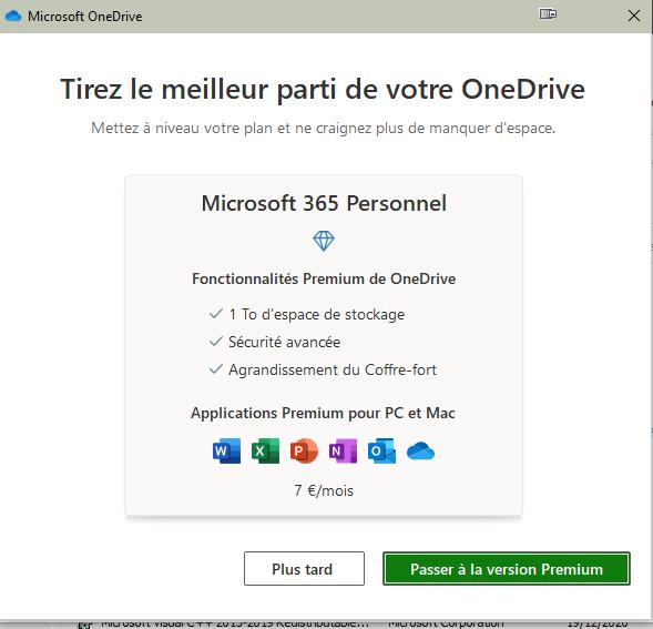 Microsoft OneDrive 2021 © OneDrive 2021