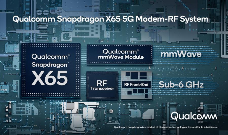 Le Snapdragon X65, la nouvelle puce 5G de Qualcomm, promet des débits jusqu'à 10 Gbps - Clubic