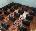 Ces mineurs de crypto passent à la vitesse supérieure avec cette ferme composée d'une centaine de laptops