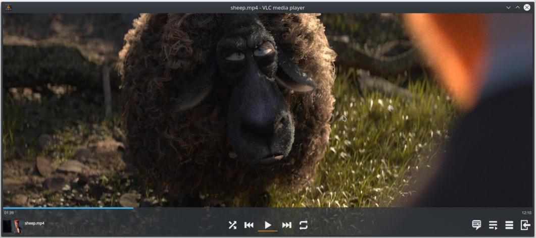 Interface VLC 4.0 - Février 2019 © VideoLAN