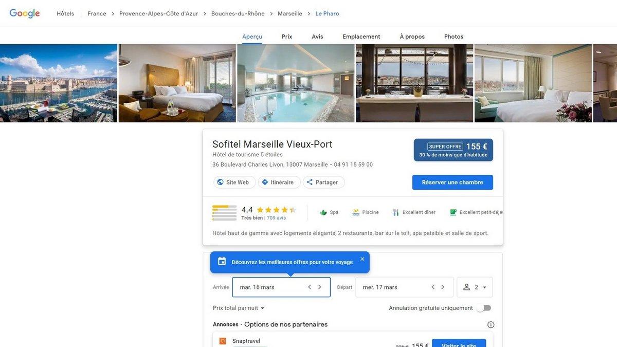 hotel Google © Capture d'écran Clubic