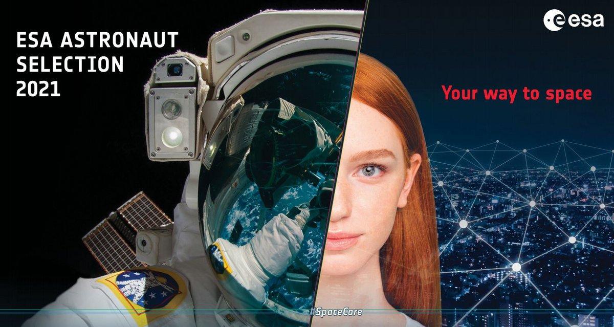 ESA astronautes sélection 2021 poster © ESA