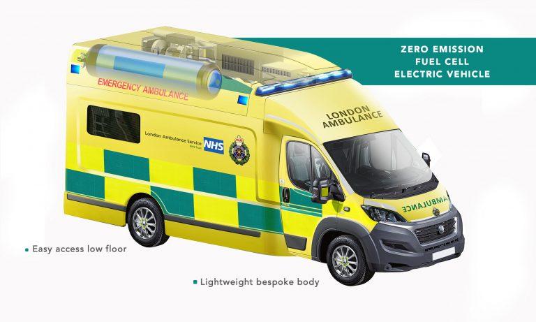 Ambulance hydrogène Ulemco Zerro © Ulemco Liverpool