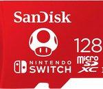 Nintendo Switch : boostez votre console avec cette microSD SanDisk 128 Go à prix choc