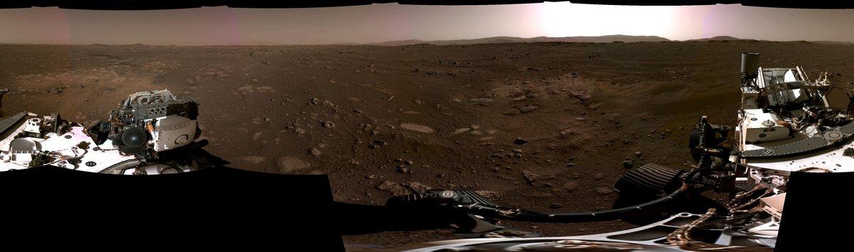 Perseverance 1er panorama Mars Jezero © NASA/JPL-Caltech