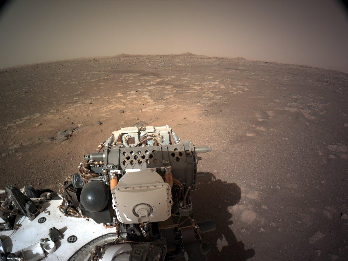 Perseverance Navcam Mars 1 © NASA/JPL-Caltech/E. Bottlaender