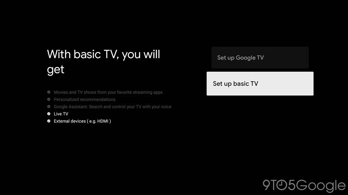 google tv basique