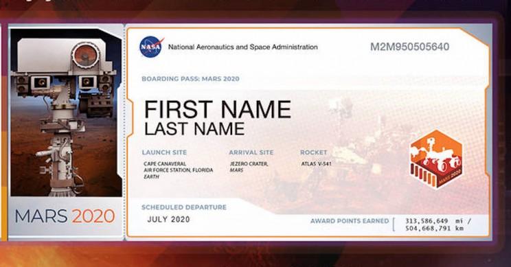 Nasa Ticket © NASA