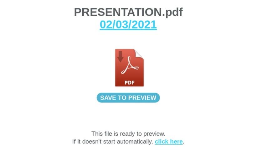 page destination PDF Nimza © Proofpoint