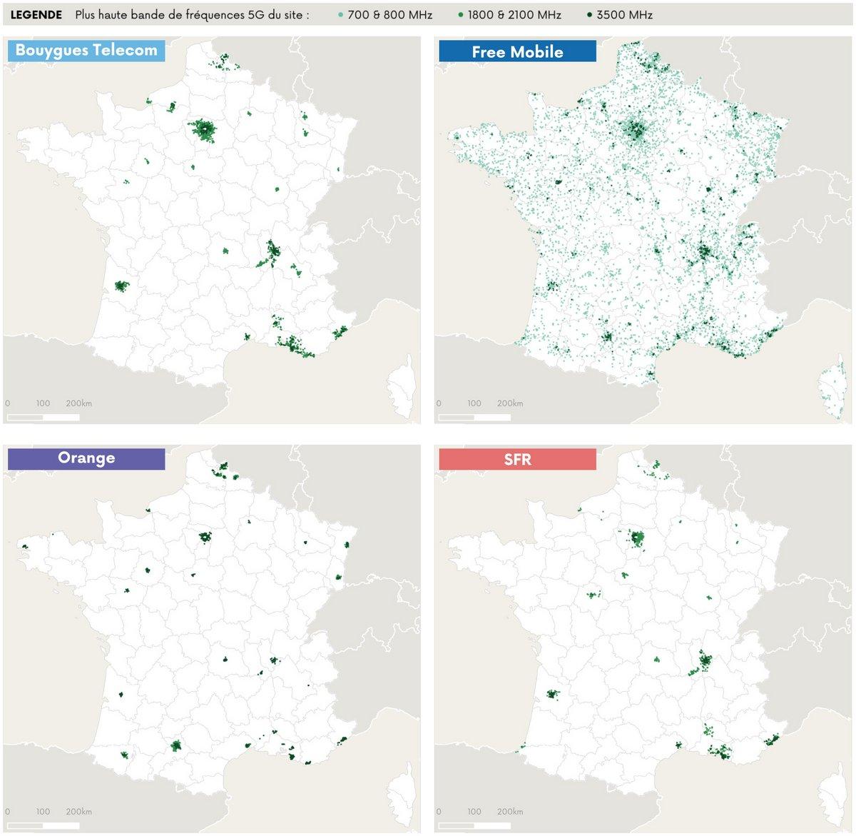 cartographie sites 5G © ARCEP