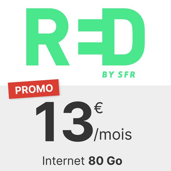 RED by SFR 80 Go