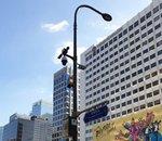 Wi-Fi, recharge de drone, feu de signalisation... Séoul déploie des lampadaires multifonctions en test