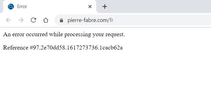 capture d'écran site Pierre Fabre © Clubic