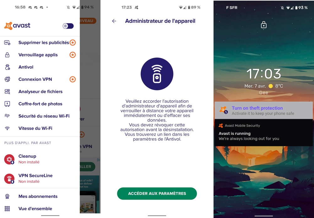 Télécharger Avast Mobile Security