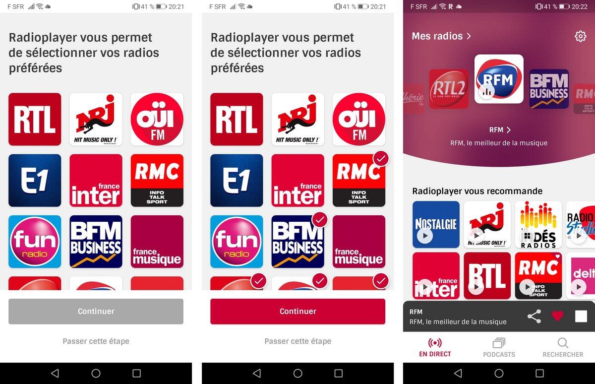 Radioplayer France test © Clubic