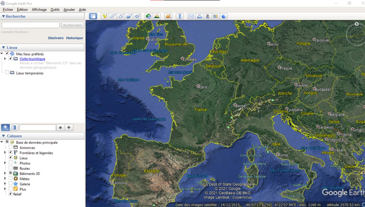 Télécharger Google Earth