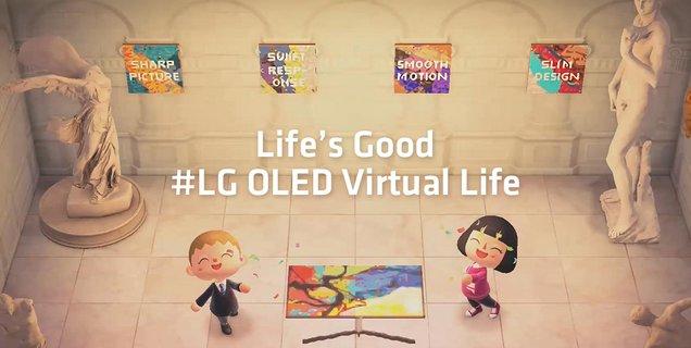 LG débarque dans Animal Crossing et présente ses téléviseurs OLED sur deux îles dédiées