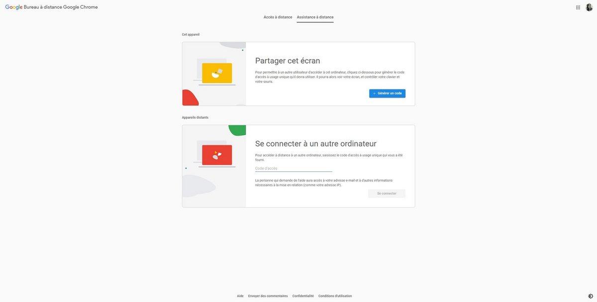 Chrome Remote Desktop © Google