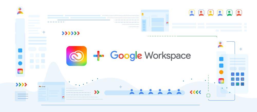 Adobe cloud google workspaces © Adobe x Google