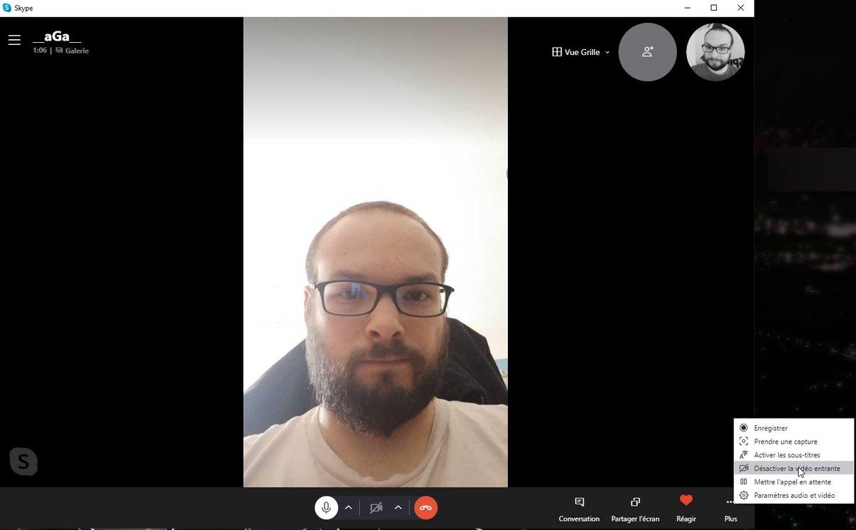video Skype © Capture d'écran