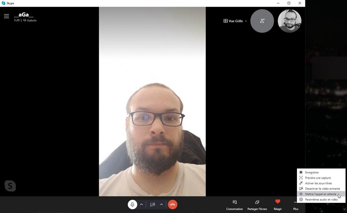 attente skype © Capture d'écran