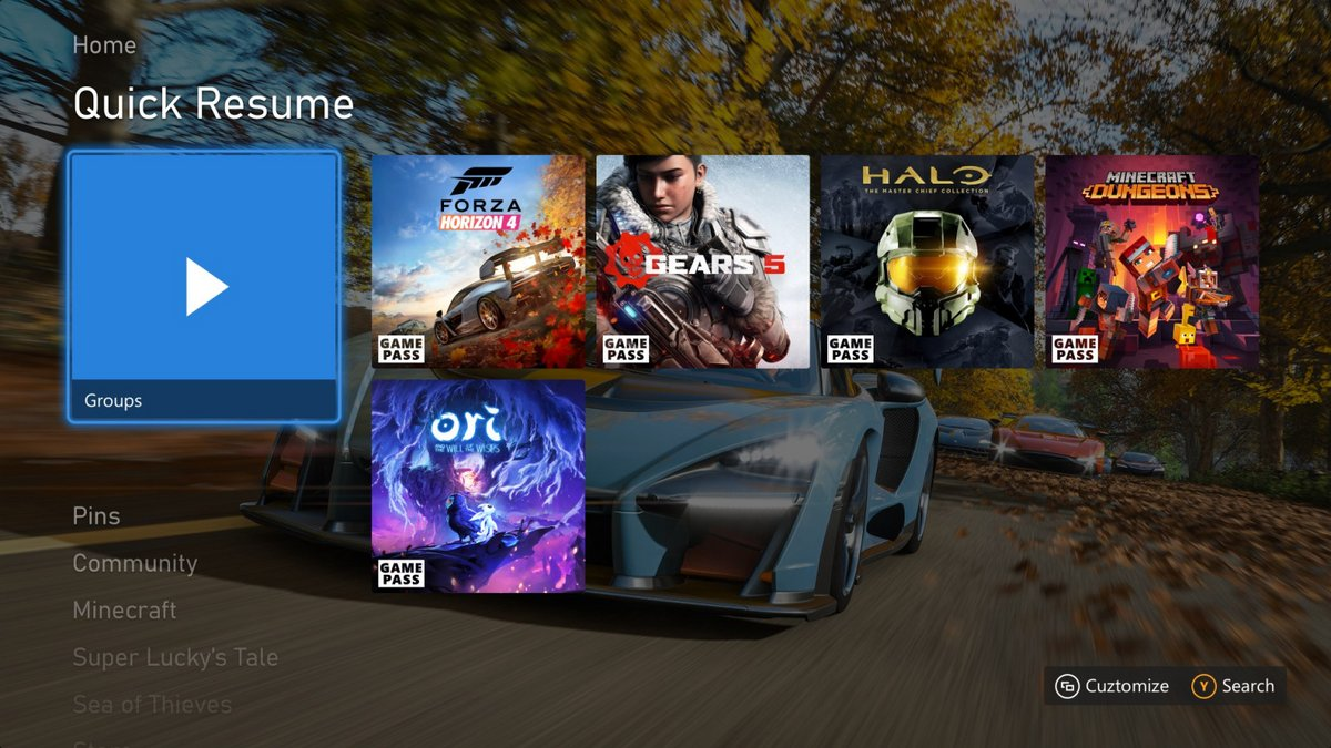 Xbox Quick Resume © Microsoft