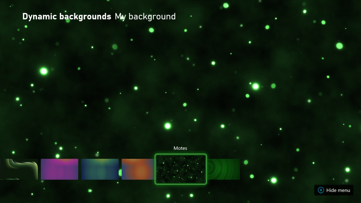 Xbox arrière plan dynamique © Microsoft