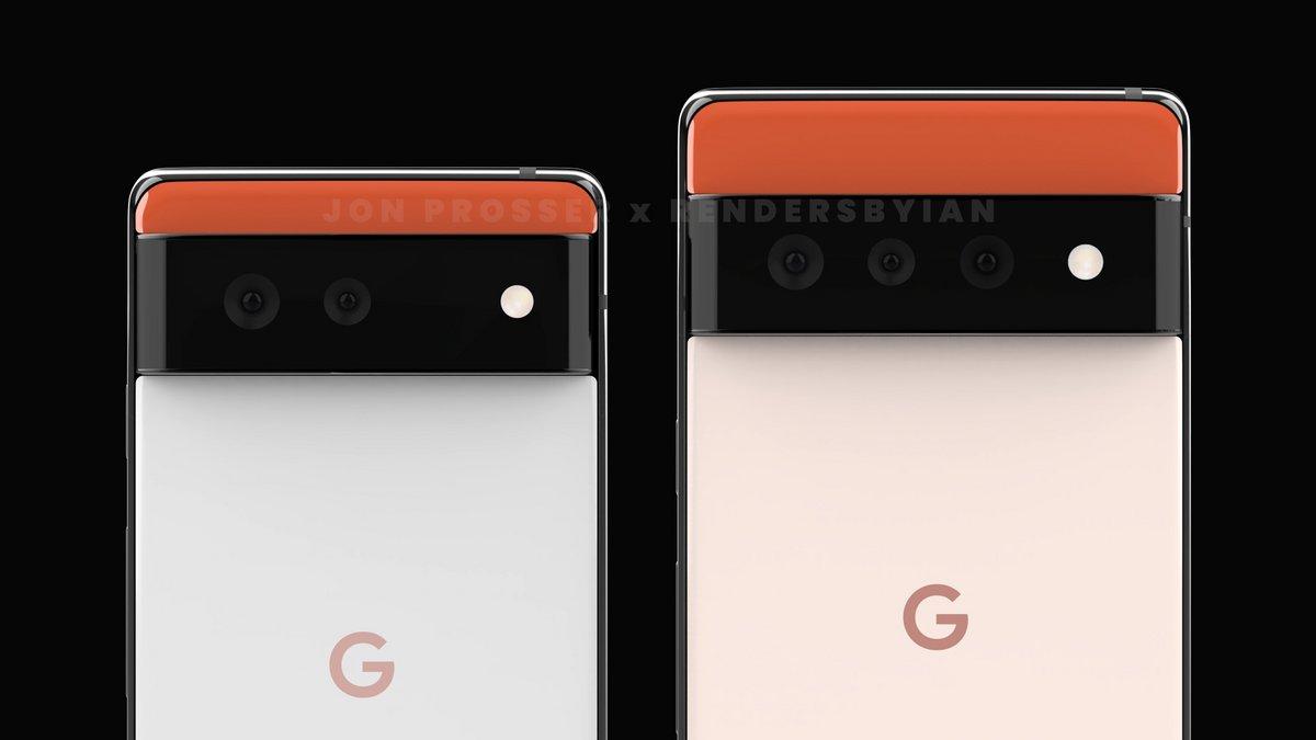 Google Pixel 6 et Pixel 6 Pro © Jon Prosser
