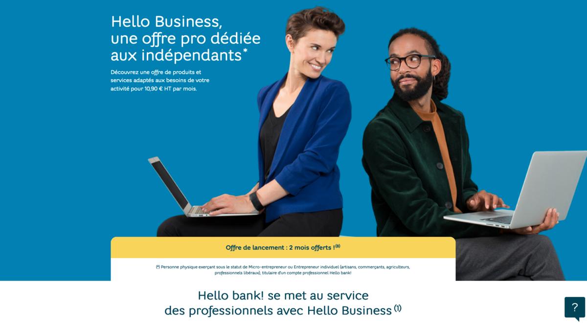 Hello bank Hello Business lancement