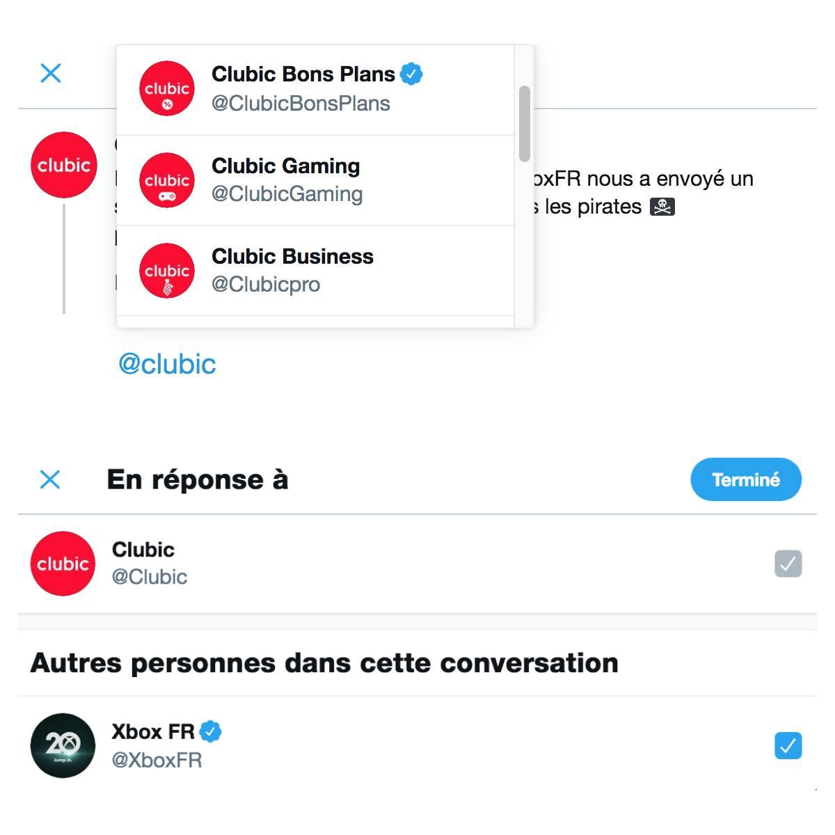 réponse conversation Twitter