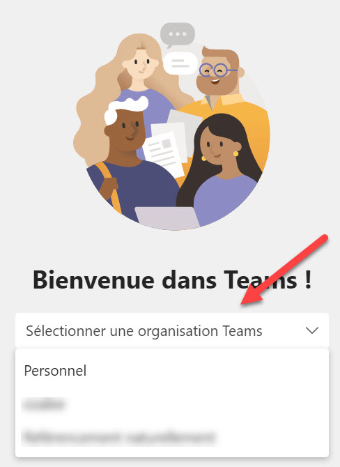 Microsoft Teams Comptes et organisations