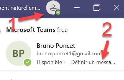 Microsoft Teams Message absence automatique