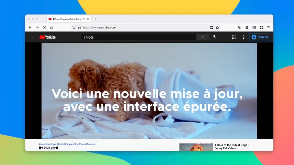 Firefox nouvelle interface © Mozilla