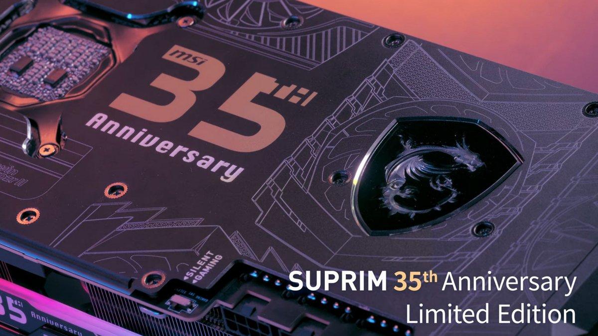 MSI GeForce RTX Suprim 35e anniversaire © WCCFTech