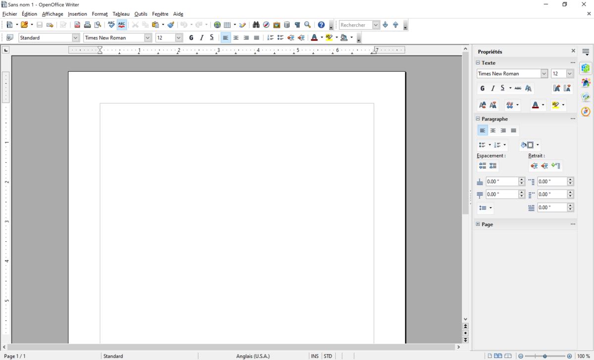 Open Office Screen Texte