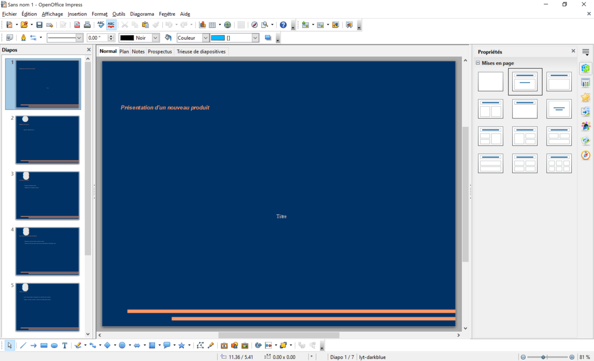 Open Office Screen Presentation