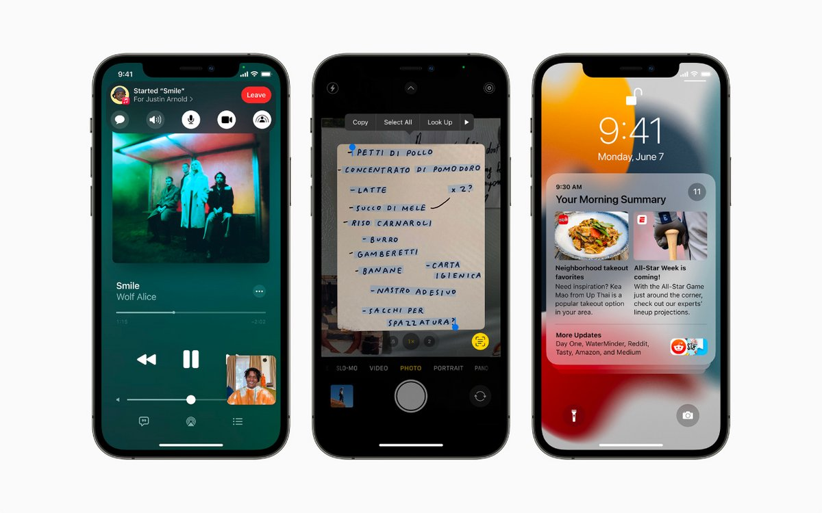 iOS 15 © Apple