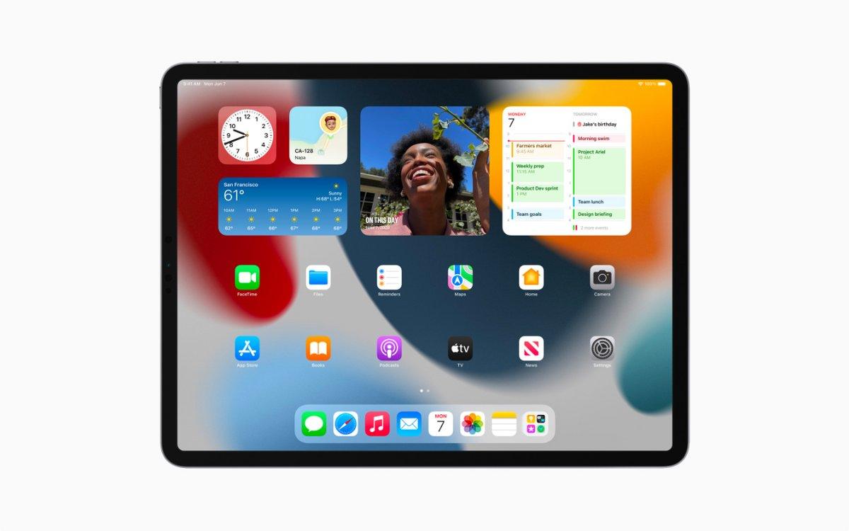 iPadOS 15 © Apple