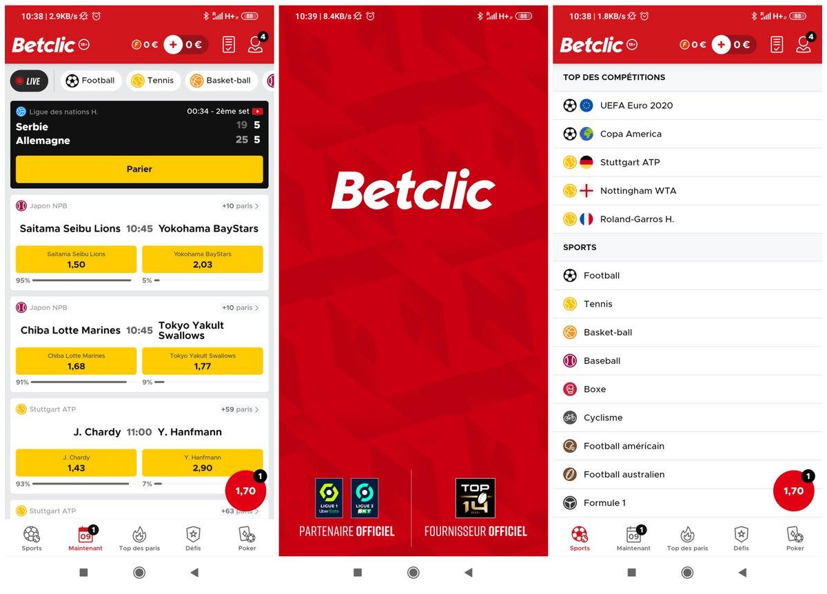 Capture d'écran Betclic