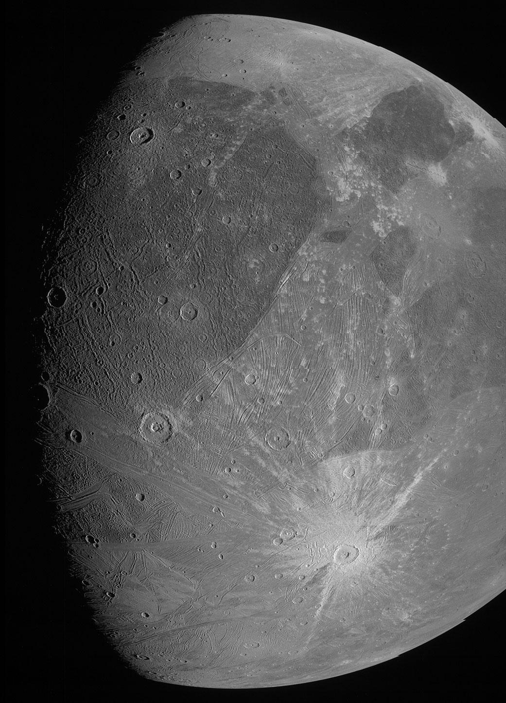 Ganymède Juno photo © NASA/JPL-Caltech/SwRI/MSSS