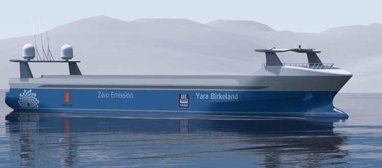 Yara Birkeland © navire électrique Vard