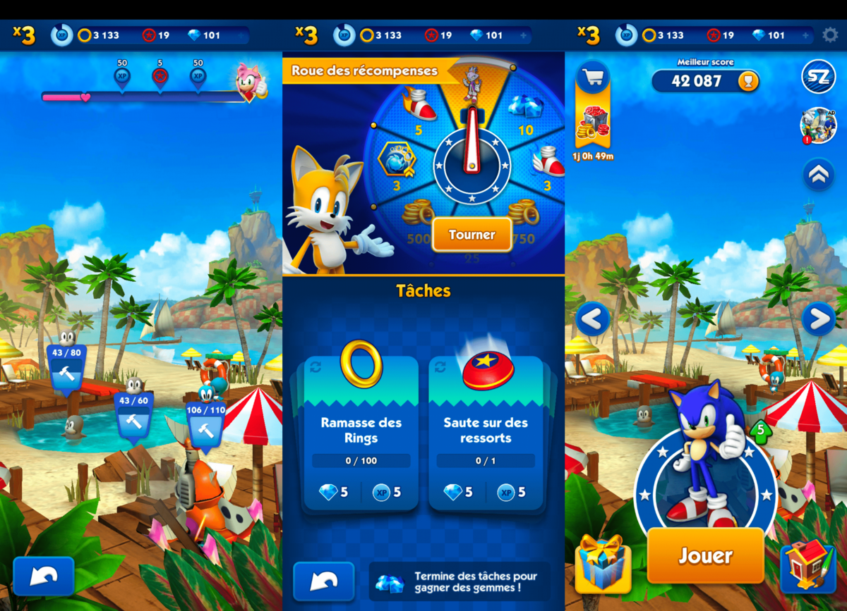 télécharger sonic dash android