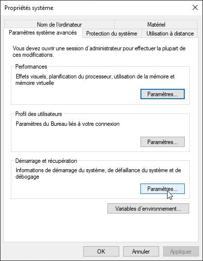 Windows BSOD © Capture d'écran